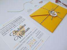 Convite de Casamento Chevron