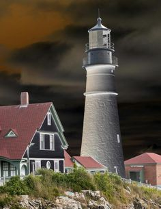 ✯ Lighthouse in New Light - Cape Elizabeth, Maine