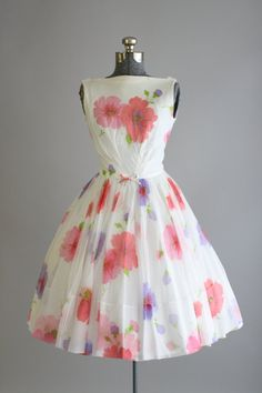Vintage 1950s Dress / 50s Party Dress / Pink by TuesdayRoseVintage
