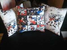 Roller Derby girl theme cushion