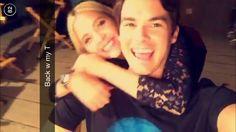 Ashley Benson & Tyler Blackburn on snapchat. #Haleb #Tyshley
