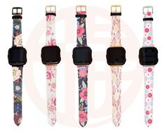Leather Floral Fitbit Versa Bands, Fitbit Versa # #leather #woman #band #strap #fitbit #monogram #engraved #personalized #versa #floral #bands #watch #versalite Fitbit Bands, Apple Watch Bands, Natural Leather, Monogram, Watches, Woman, Floral, Fit Bit, Gifts