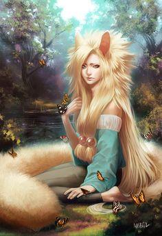 Kitsune fox girl
