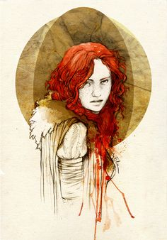 'Ygritte' (date unknown) by Daenerys-mod at Deviant Art. Contemporary artist. // Repin. // Found by @RandomMagicTour (https://twitter.com/randommagictour) - Sasha Soren - Book trailer: http://www.youtube.com/watch?v=ImIzIx4IeQQ - Browse (Kindle/print): http://www.amazon.com/Random-Magic-Sasha-Soren/dp/0979777410/ref=sr_1_1?ie=UTF8&qid=1328315192&sr=8-1