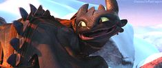 Haven't seen my favourite gif of Toothless on here yet, happiest face ever.