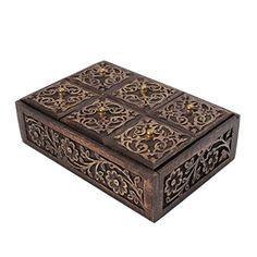 Jewelry Storage Handmade Mango Wood Embossed Foliage Design Walnut Wash Rectangle Shaped Miniature Six Boxes Keepsake Box Dressing Table Accessory Organizer Store Indya http://www.amazon.com/dp/B00WHPNBPM/ref=cm_sw_r_pi_dp_maRLvb1DQQPPD