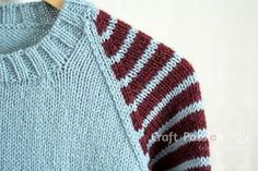 stripe raglan shoulder