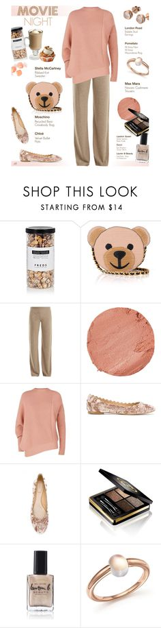 """""""Untitled #1335"""" by louise-stuart ❤ liked on Polyvore featuring FREDS at Barneys New York, Moschino, MaxMara, Lipstick Queen, STELLA McCARTNEY, Chloé, Gucci, Lauren B. Beauty, Pomellato and London Road"""