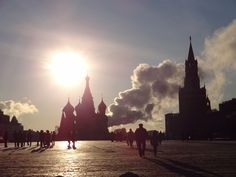 Moscow at sunrise. Really pretty amazing...