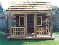 Log Cabin Playhouse for the grandkids