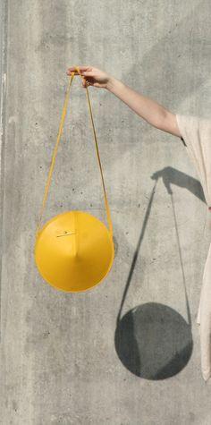 Circle Bag by IF irinaflorea | minimalist design | https://www.facebook.com/irinafloreadesign/