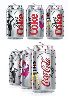 Diseño de Marc Jacobs para Diet Coke & Coca-Cola Light