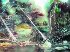 Viestarts Aistars' art on exhibit at Daily Brews Cafe, 128 S. Main St., Wayland, MI, through February 13, 2013.
