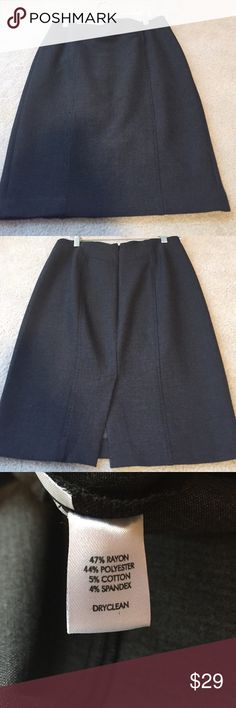 Tailored like new condition dress skirt. LOFT Tailored like new condition dress skirt. Charcoal gray.  Slit in the back. Unlined. In a separate post I also have the black skirt. Bundle and save 😊 LOFT Skirts Mini
