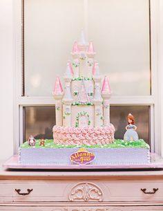 sofia the first castle birthday cake