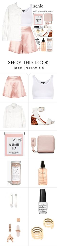 """ART ~103"" by courageousmind ❤ liked on Polyvore featuring Boutique, Topshop, Current/Elliott, Acne Studios, Madewell, philosophy, Kristin Cavallari, OPI, Rebecca Minkoff and House of Harlow 1960"