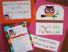 REAL PARTIES: Night Owl PJ Club Party