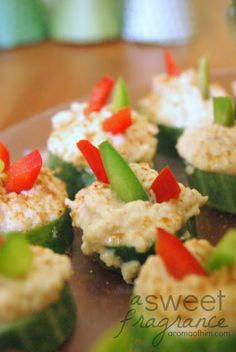 Quick and Healthy Appetizer: Cucumber Hummus Bites