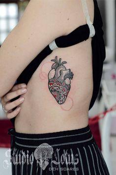 Coração Ornamental. Desenho e tattoo por Deh, para o FlashDay | Studio Lotus Tattoo