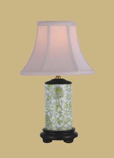 Porcelain Lemon Green Vase Lamp : LPNG105A   Savio Lighting