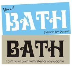 Stencil BATH Home Bathroom Country Primitive Craft Sign in Crafts, Art Supplies, Decorative & Tole Painting Primitive Bedding, Primitive Sheep, Primitive Crafts, Country Primitive, Stencil Patterns, Stencil Designs, Painting Patterns, Stencil Painting, Tole Painting