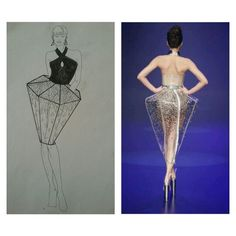 Inspiratie voor de rok van dit ontwerp. Interesse in het doorzichtige van de rok met daarboven op steentjes/dopjes. Shibuya Style, Botanical Fashion, Fashion Show Themes, Geometric Fashion, Structured Dress, Do It Yourself Fashion, Origami Fashion, Sculptural Fashion, Fabric Manipulation