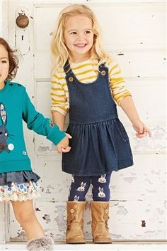 Buy Jersey Denim Pinafore (3mths-6yrs) from the Next UK online shop