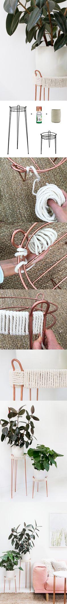 Hazlo tú misma: Maceteros con cuerda / http://www.tres-studio-blog.com/