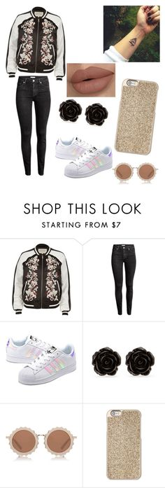 """""""Untitled #115"""" by httpsxlma on Polyvore featuring River Island, H&M, adidas Originals, Erica Lyons, House of Holland and Michael Kors"""