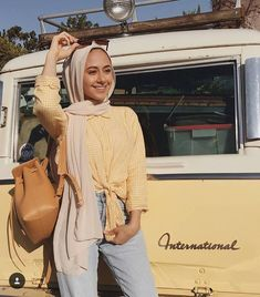- Colorful casual outfits in hijab – Just Trendy Girls: www.justtrendygir… Colorful casual outfits in hijab – Just Trendy Girls: www. Modern Hijab Fashion, Street Hijab Fashion, Hijab Fashion Inspiration, Modest Fashion, Fashion Outfits, Hijab Style, Casual Hijab Outfit, Outfits Casual, Modest Dresses