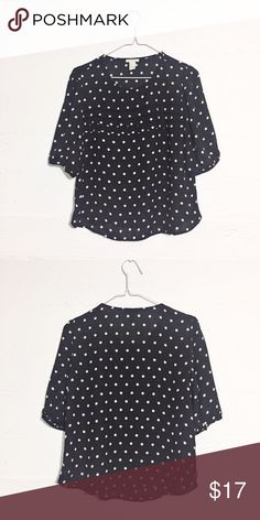 Polka Dot Blouse Cute accent pleating across the bust. Offers accepted. No trades. Forever 21 Tops Blouses