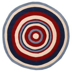 Abacasa Kids Bullseye Round Area Rug - Decor at Hayneedle - Connor's room