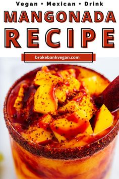Mangonada is an extremely popular Mexican drink found all across the country. It's filled with fresh mangoes to create a creamy base, layered with homemade chamoy, and topped with tangy Tajin seasoning. It's a perfect balance between all the flavors — sweet, sour, salty, spicy, and umami. These bold flavors need to be tasted to be believed. Just don't forget the chile tamarind straw! This drink is A-OK for all types of eaters as it's vegan and gluten-free! #mangonada #chamoyada Vegan Mexican Recipes, Vegetarian Recipes, Mangonada Recipe, Tamarind Candy, Mexican Drinks, Smoothie Packs, Avocado Smoothie, Food Names, Recipe Boards