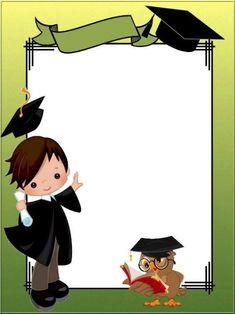 Graduation Images, Graduation Party Decor, Graduation Cards, Graduation Invitations, Graduation Ideas, Frame Border Design, Boarder Designs, Page Borders Design, Kindergarten Graduation