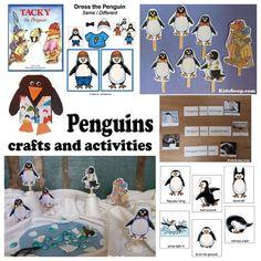 Lots of great Penguin Activities for Preschool and Kindergarten