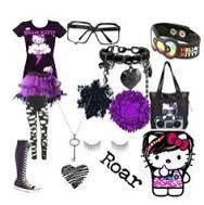 Alternative fashion Purple and black assemble #hellokitty #alternative #alternativegirl #fashion #emo #emogirl #scene #scenegirl #punk #purple #black #cute
