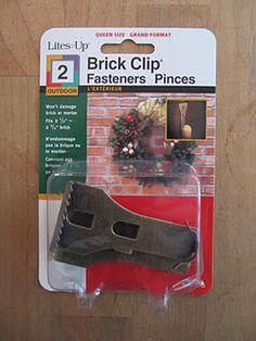 OMG!!! Finally, a way to hang decor on brick walls!!! You can move them around, AND they're inexpensive...no more holes by trying to nail/drill into the mortar! YAAAY!