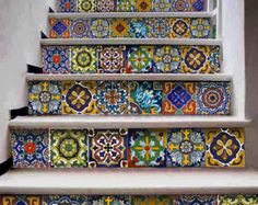 Kitchen/bathroom backsplash Tile/Wall/stair decal : by Bleucoin