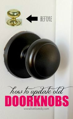 Just say NO to brass! The secret to updating old brass doorknobs! (She doesn't mention but he sure to lightly sand and prime them first!)
