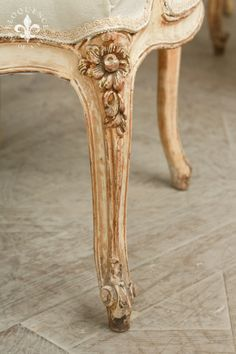 French Chair Detail :: at Eloquence, Inc.