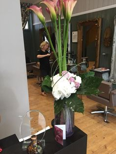 We love getting flowers from happy clients! #happy #hair