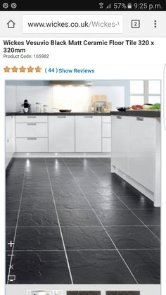 238c41b6363 This Wickes Anthracite Dark Grey Matt Floor Tile 330x330mm perfectly ...