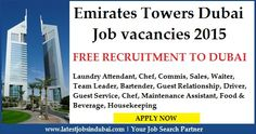 #Job #vacancies #in #Emirates #Towers #Hotel #Dubai. Available jobs Driver, Waiter, Laundry Attendant, Housekeeping, Food & Beverage, Guest Service, Bartender, Chef, Sales, Team Leader, Guest Relationship etc. Click on the given image to apply for the job