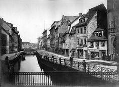 Ranstädter Steinweg mit Kleiner Funkenburg rechts um 1880