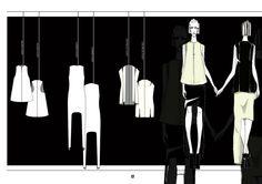 Fashion Portfolio - fashion design drawings; fashion sketchbook // IFA Paris fashion student work
