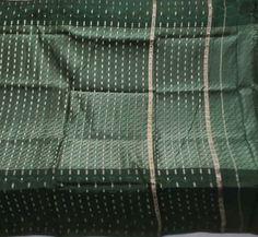 Antique Vintage Weaving Woven Fabric Pure Silk Very Heavy Sari Saree 555 Grams #Unbranded