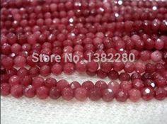 100pcs 4*6mm Lac Bleu AB Facettes Gems loose beads Perles Cristal