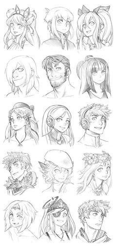 151208 - Headshot Commissions Sketch Dump 12 by Runshin