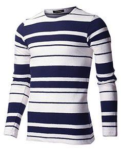 FLATSEVEN Men's Slim Fit Striped Cotton Long Sleeve Crewn... https://www.amazon.com/dp/B01E74HKIO/ref=cm_sw_r_pi_dp_x_PCnaybVVHF60H