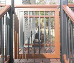 Home - Trex Custom Deck Gates / Located in Rockland County, NY / Pet Gates / Dog Deck Gates / Pet Deck Gates / Azek / Timbertech / Fiberon / Veranda